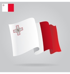 Background with waving Malta Flag vector
