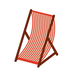 beach sunchair isolated vector image