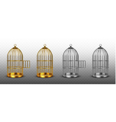 bird cages vintage empty birdcages isolated set vector image