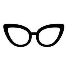 black icon glasses cartoon vector image