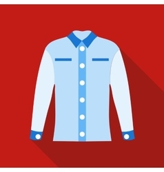 Blue female blouse icon flat style vector