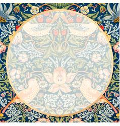 Bohemian fabric frame william morris pattern vector