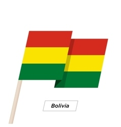 Bolivia Ribbon Waving Flag Isolated on White vector image