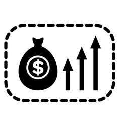 business income profit from project silhouette vector image