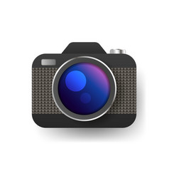 camera icon flat photo camera isolated modern vector image