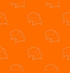 Chat pattern orange vector