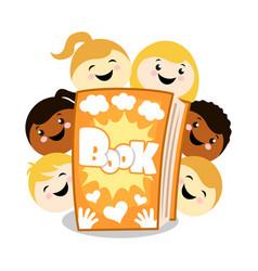 children book cartoon vector image