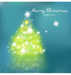 christmas tree blurred lights vector image