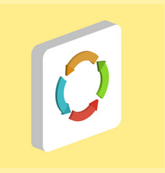 circle arrows computer symbol vector image
