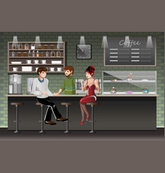 Coffee shop urban society concept vector