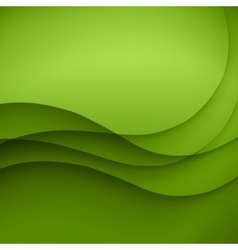 colorful green lines background vector image