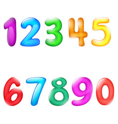 colorful numbers balloon vector image