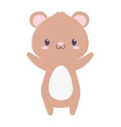Cute bear animal cartoon isolated icon vector