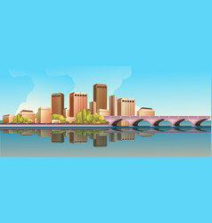 day city landscape road vector image