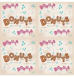 donuts logo design 3d letters vector image