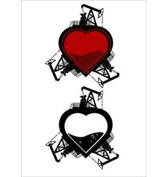 Ecology heart vector