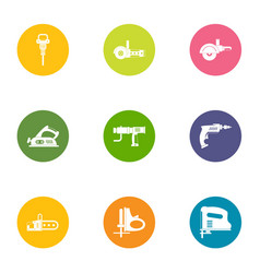 Effort icons set flat style vector