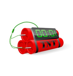 Explosives with digital alarm clock vector image