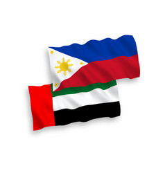 Flags united arab emirates and philippines vector