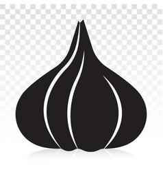 Garlic allium sativum flat icons for apps vector