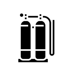 Gas cylinders for welding glyph icon vector