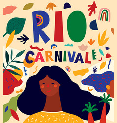 girl and carnival vector image