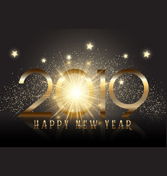 gold new year background with sparkle effect vector image