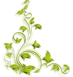 green corner vector image