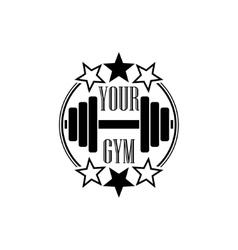Gym symbol black vector image