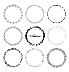 Hand drawn doodle frames decorative vector image vector image