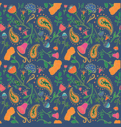 hand drawn seamless floral pattern vector image