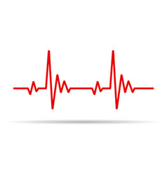 Heart pulse line vector