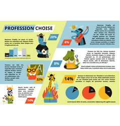 humanized animals profession choice infographics vector image