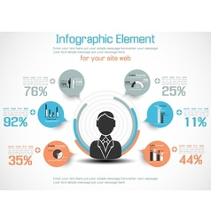 INFOGRAPHIC MODERN PEOPLE BUSINESS NEW STYLE vector image