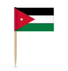 Jordan flag toothpick vector