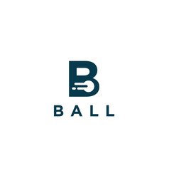 Letter b for ball logo icon template vector
