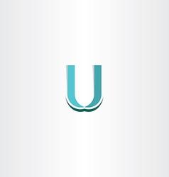 Letter u logo icon vector