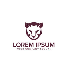 Lion tiger logo design concept template vector