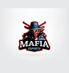 mafia e sport logo mascot vector image
