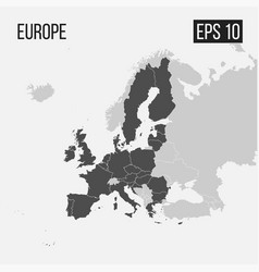map of europe with regions eps 10 vector image