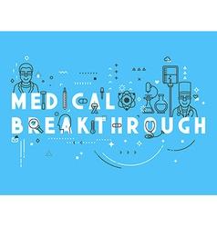 Medicine concept breakthrough vector