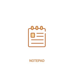 Notepad concept 2 colored icon simple line vector