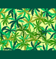 Palm leaves seamless pattern tropical jungle vector