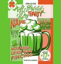 Patricks day party vector