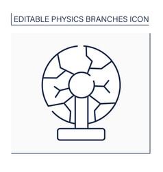 Plasma physics line icon vector