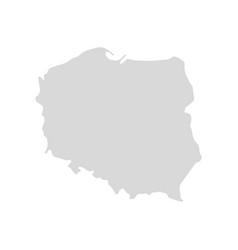 poland country map shape krakow europe vector image