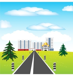 Road and city vector