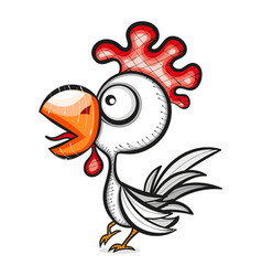 rooster bird vector image