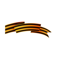 russian victory day ribbon asymmetric horizontal vector image