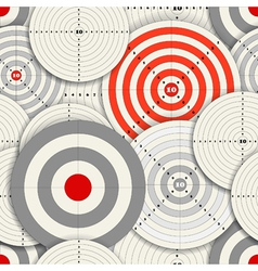 Seamless background of different targets vector image vector image